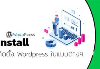 ติดตั้ง WordPress ในรูปแบบต่างๆ